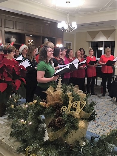 The Candy Cane Carolers Spread Cheer at Delmanor Glen Abbey