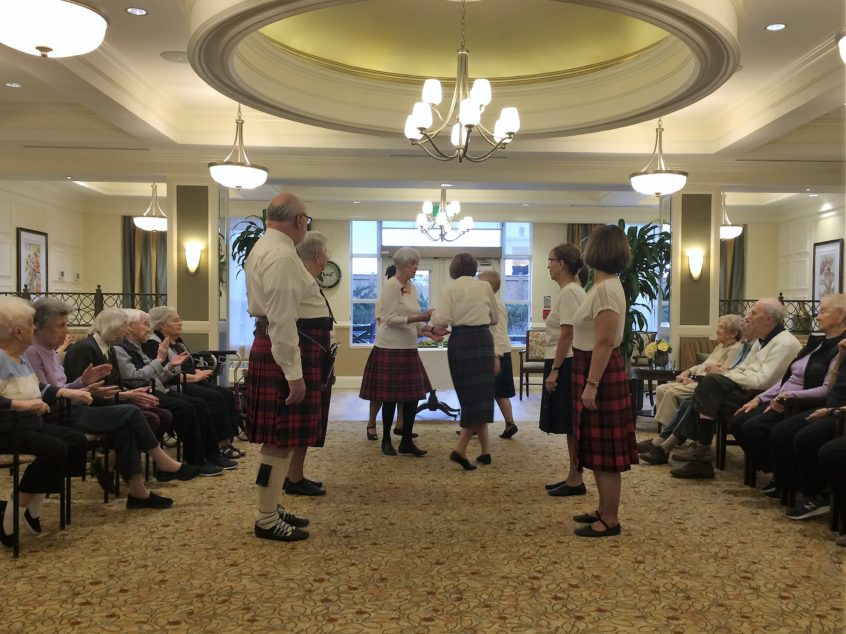 Scottish Country Dancing at Delmanor Elgin Mills