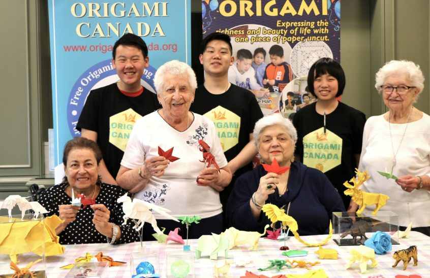 Origami Canada Workshop at Delmanor Elgin Mills