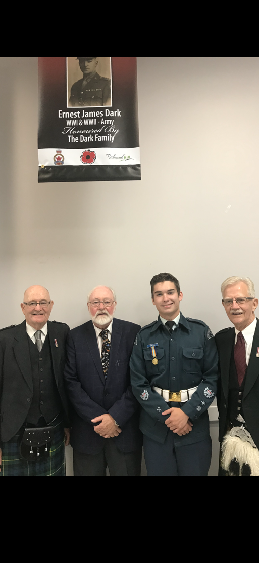 Richmond Hill Legion's Unveiling of Veteran Banners Event