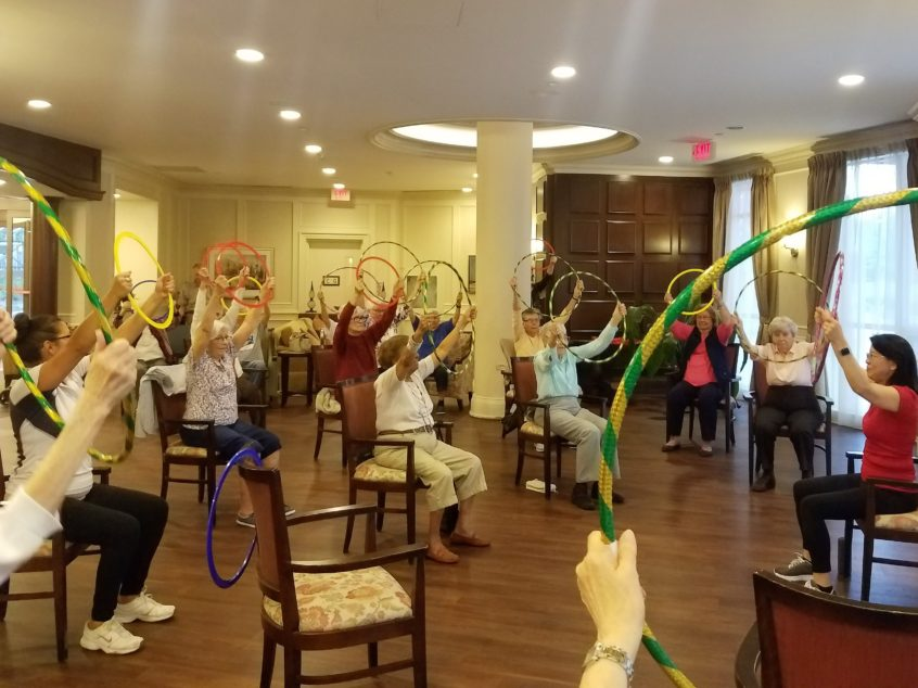 Active Aging with the Hula Hoop to Health Workshop at Delmanor Northtown