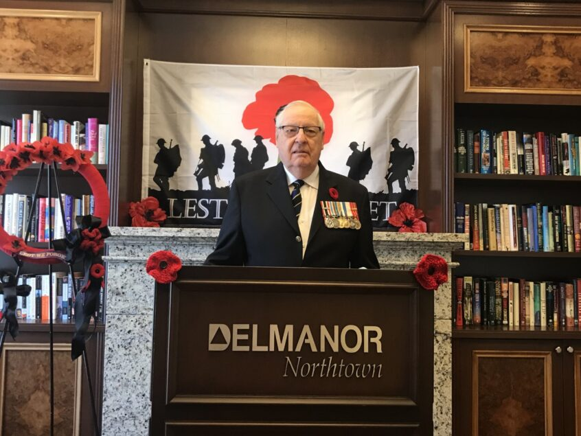 Remembrance Day Ceremony at Delmanor Northtown
