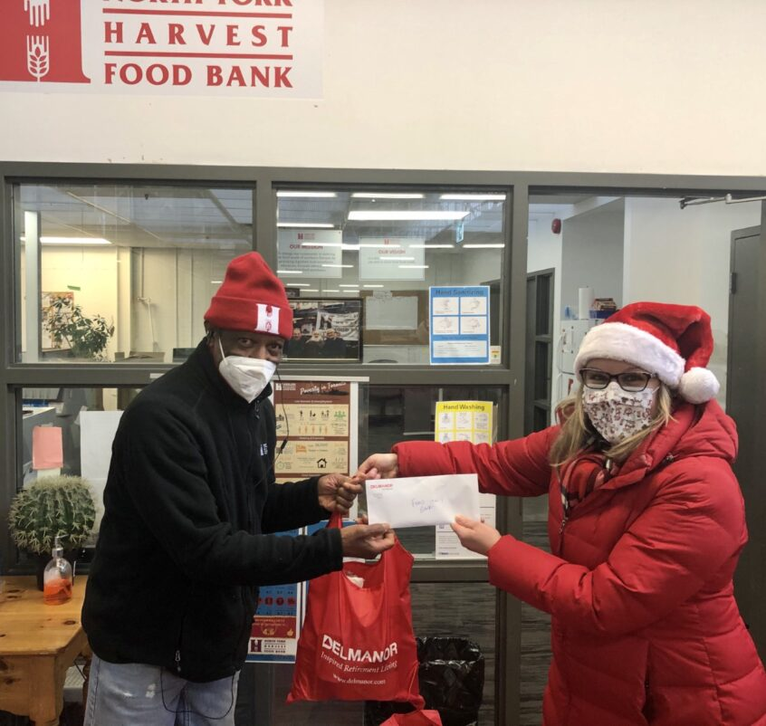 Delmanor Northtown Gives Back to Harvest Food Bank