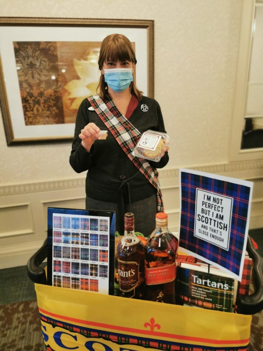 Celebrating Robbie Burns at Delmanor Northtown